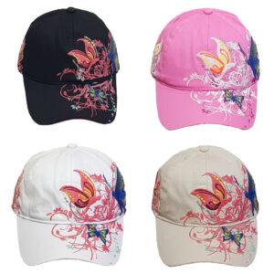 Καπέλο Τζόκεϊ Κέντημα Πεταλούδα