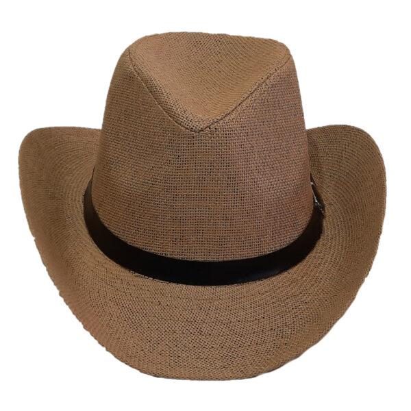 Ψάθινο Καπέλο Τύπου Καουμπόι Με Κορδέλα
