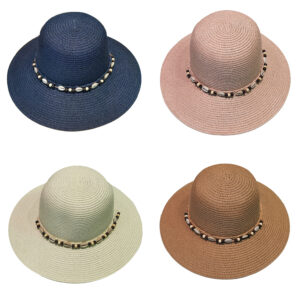 Γυναικείο Ψάθινο Καπέλο Με Μικρό Γείσο