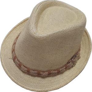 Ψάθινο Καπέλο Καβουράκι Με Κορδέλα Μπεζ