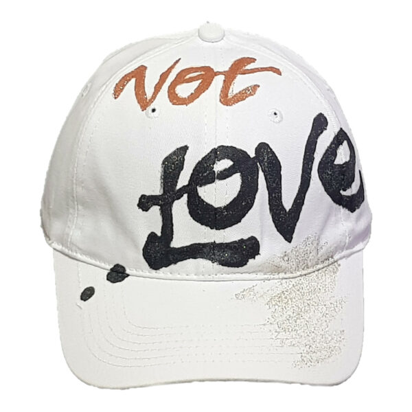 Καπέλο Τζόκεϊ Ζωγραφιστό Not Love
