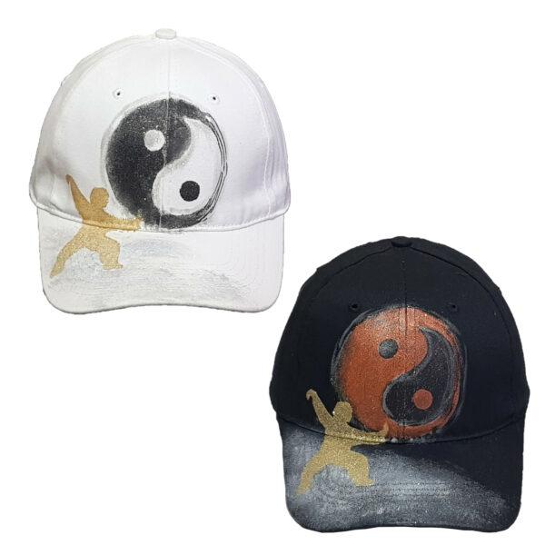 Καπέλο Τζόκεϊ Ζωγραφιστό Γιν-Γιανγκ (Yin Yang)
