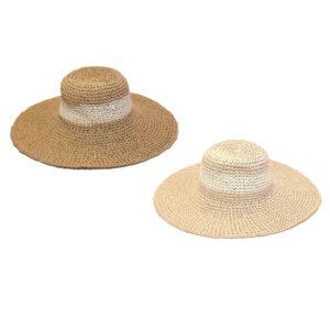 Γυναικείο Ψάθινο Χειροποίητο Καπέλο Δίχρωμο
