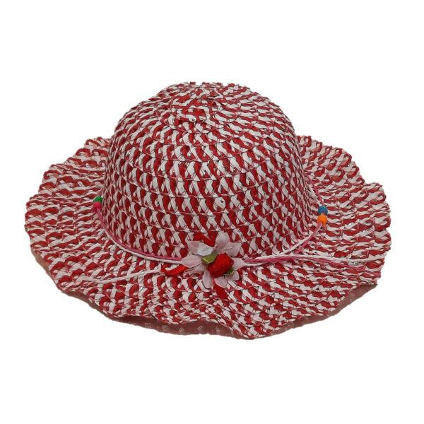 Καπέλο Ψάθινο Για Κορίτσι Με Σχέδια