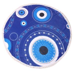 Πετσέτα θαλάσσης στρογγυλή με σχέδιο μάτι- MG Eshop