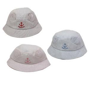 Καπέλο Παιδικό Κώνος Unisex Με Αυτάκια Και Άγκυρα