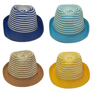 Παιδικό Ψάθινο Καπέλο Καβουράκι Με Σχέδιο Ρίγα