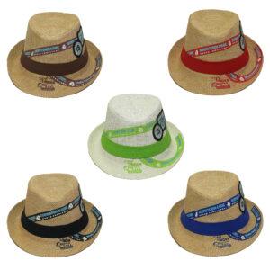 Παιδικό Ψάθινο Καπέλο Καβουράκι Με Σχέδιο