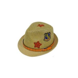 Παιδικό Ψάθινο Καπέλο Καβουράκι Με Σχέδια