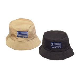 Μονόχρωμο Καπέλο Κώνος GREECE