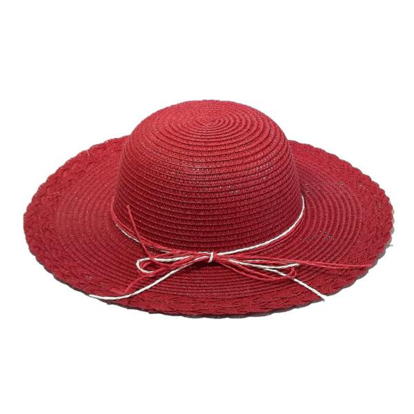 Καπέλο Ψάθινο Για Κορίτσι Με Κορδέλα Μονόχρωμο