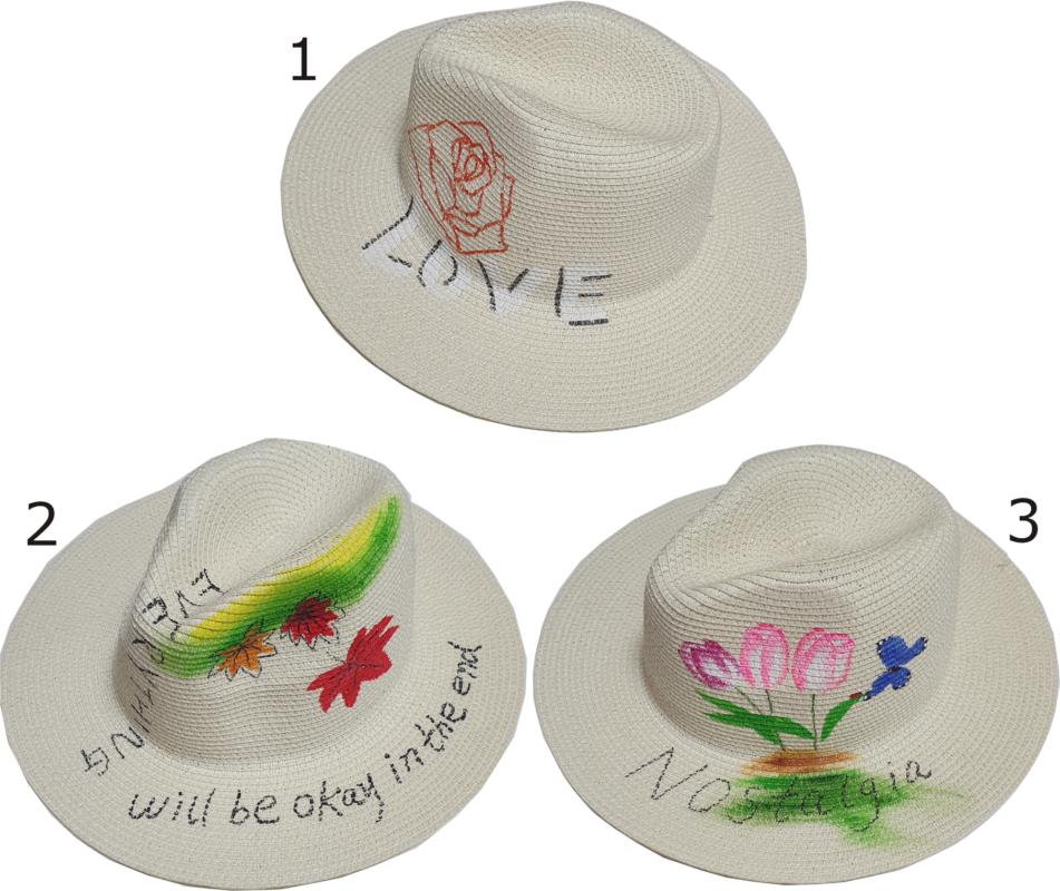γυναικείο ψάθινο καπέλο τύπου καουμπόι