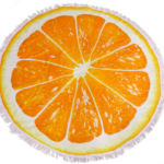 στρογγυλές πετσέτες σχέδιο πορτοκάλι